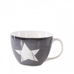 PORCELÁNOVÝ HRNEK STAR WOOD GREY
